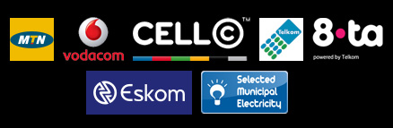 Our products include MTN, Cell C, Vodacom, Telkom, Sundial, Electricity and Cover2go